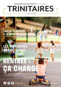 """Une du nouveau magazine de La Trinité : """"Trinitaires, Le Magazine"""""""